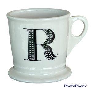 ANTHROPOLOGIE monogram initial letter R mug